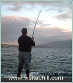 Fishing off rocks, Achill Island