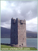 Granuaille's Tower at Kildavnet, Achill Island